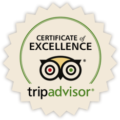 Trip Advisor's Certicate of Excellence