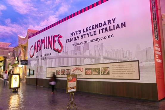 Picture of Carmine's at the Forum Shops before opening