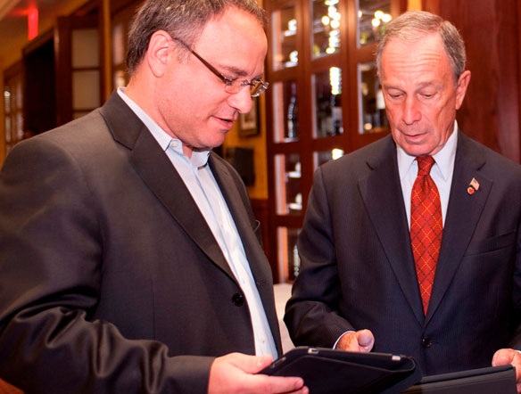 Picture of Jeff Bank and Michael Bloomberg