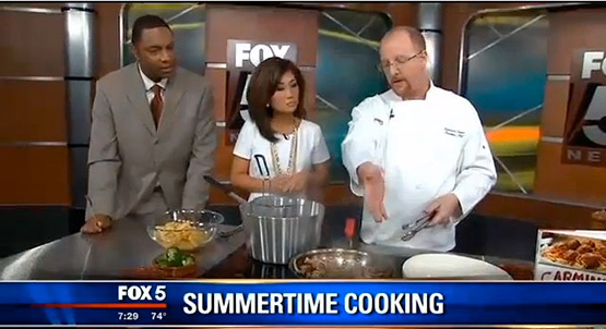 Carmine's chef on Fox 5 news