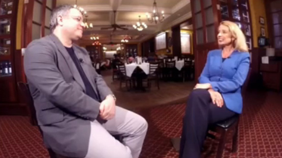 Picture of interview with Jeffrey Bank, Carmine's CEO